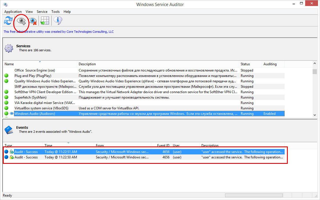 Windows Service Auditor