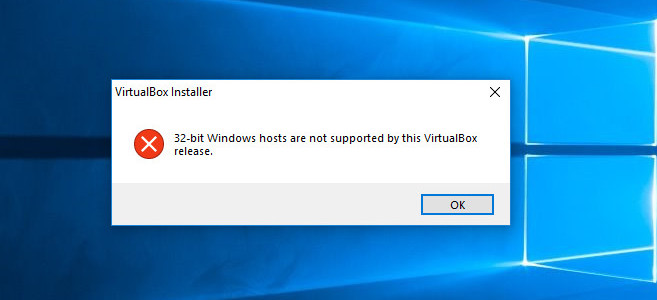 32-bit Windows hosts are not supported