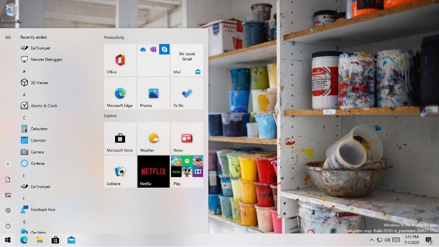 Новое меню Пуск в Windows 10 20161