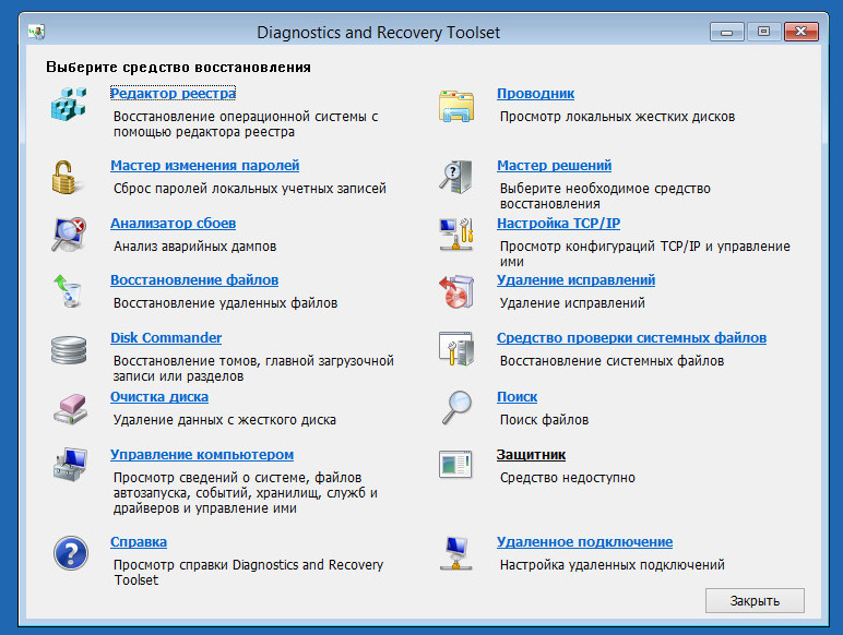 Diagnostics and Recovery Toolset