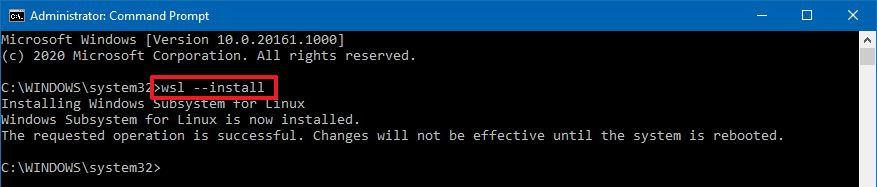 Wsl --install