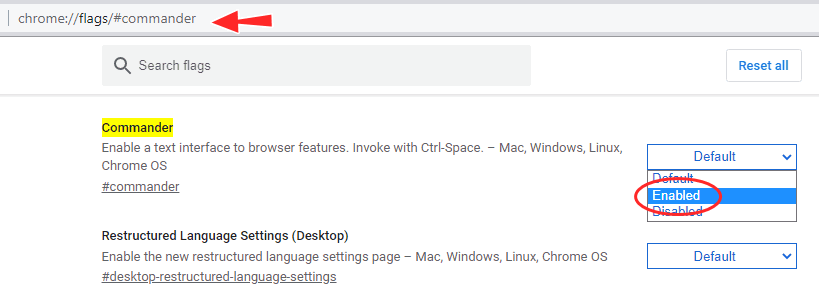 Chrome Commander