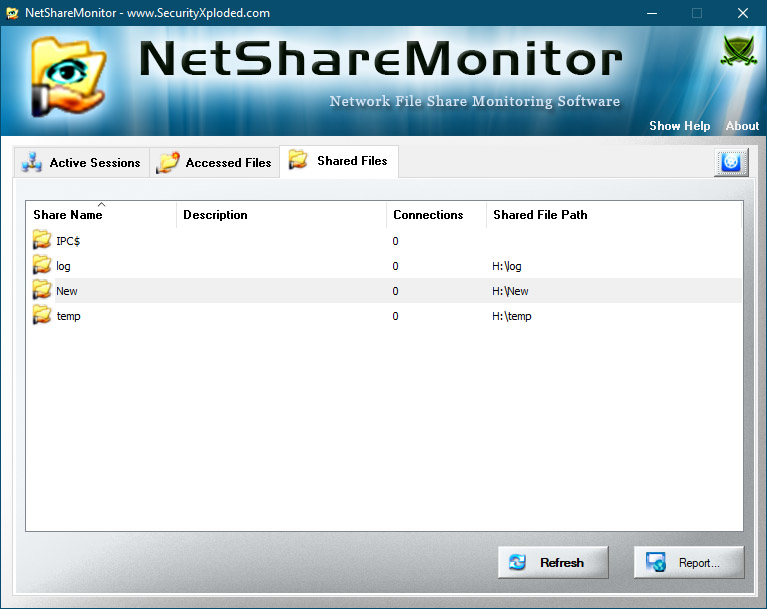 NetShareMonitor - Shared Files