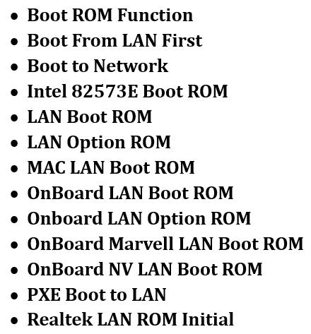 Onboard LAN Boot ROM