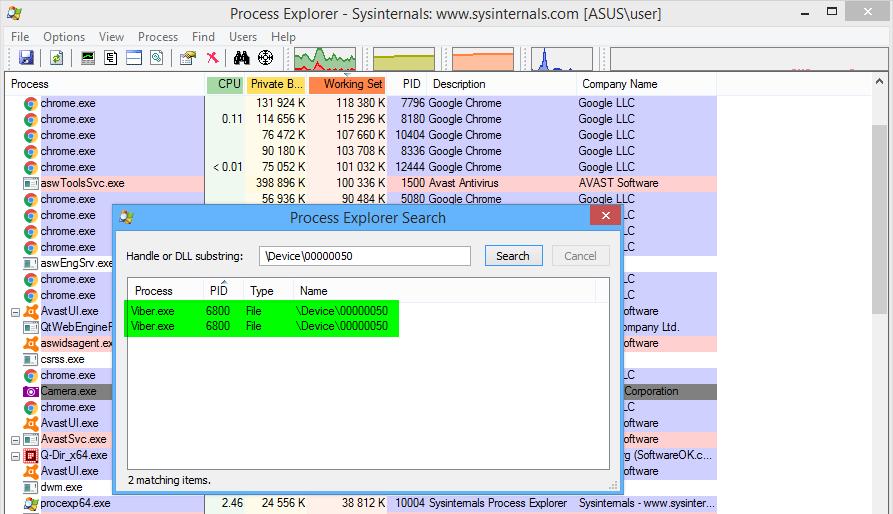 Process Explorer Process PID