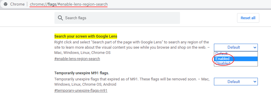 Search your screen with Google Lens