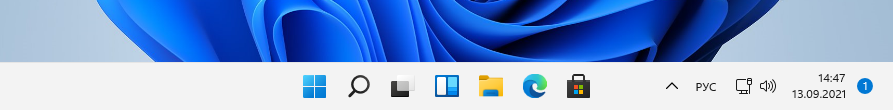 Панель задач в Windows 11